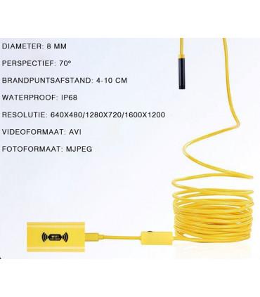 Endoscope camera op flexibele steel